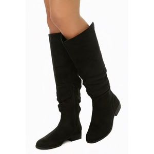 Forever 21- Black Slouchy Faux Suede Boots